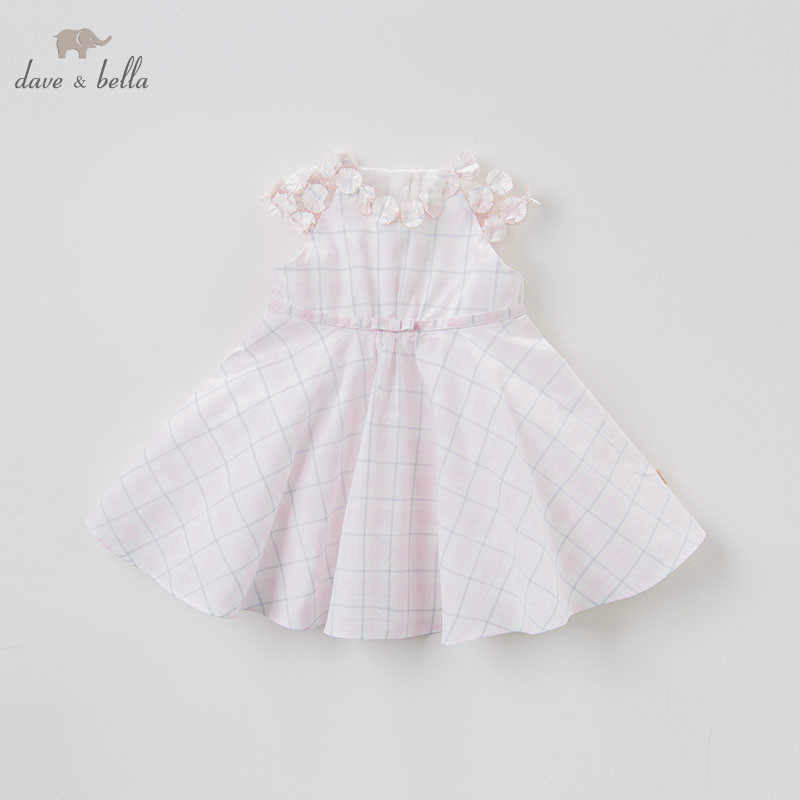 DBJ8052 DAVE BELLA summer baby girls floral dress infant toddler birthday party dress children sleeveless boutique dresses