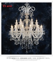 New Luxury 6 8 10 Lamp Head White Living Room Restaurant Lights K9 Crystal Candle E14