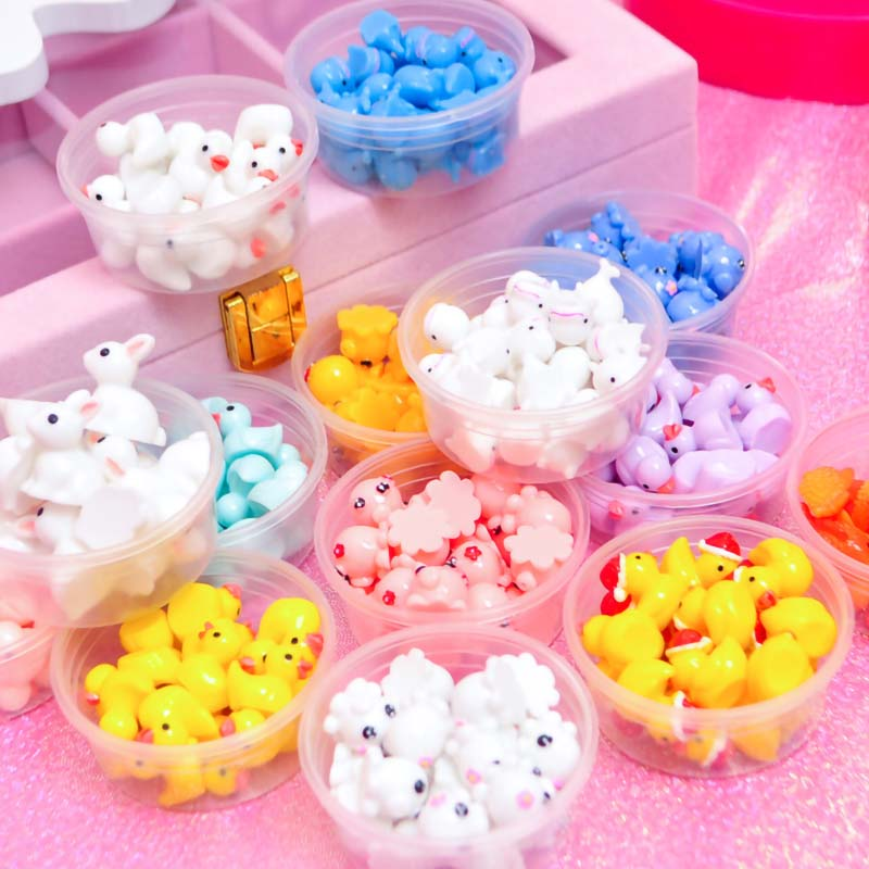 New 10pcs/box Slime Charms Toy Resin Duck Supplies Addtion Filler For Fluffy Cloud Clear Slime DIY Crafts Additives For Slimes