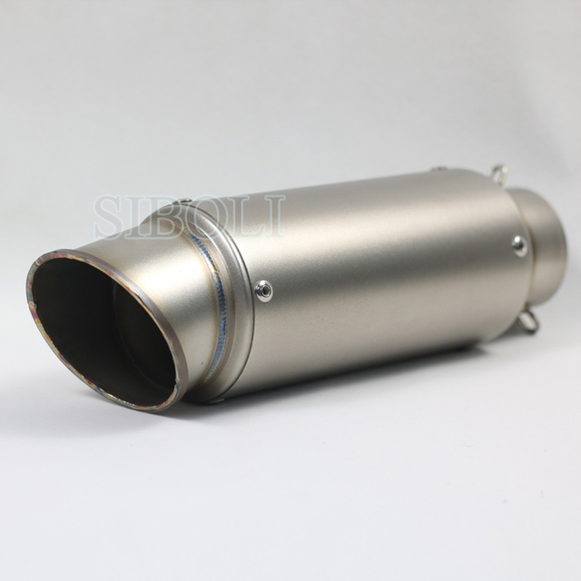 Free Shipping 38-51mm 60mm Motorcycle Exhaust Muffler Pipe SC KTM Carbon Escape For suzuki gsr 600 750 crf 230 cb650f DB killer