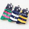 6 пар/лот 2017 мальчиков хлопчатобумажные носки полосой носки детские
