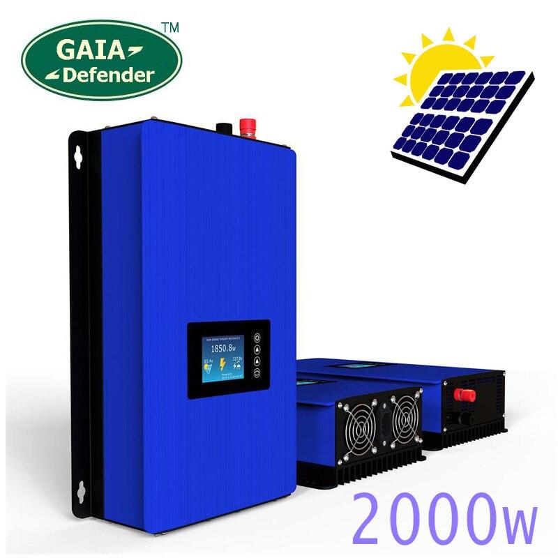 2000 W en la red inversor de la batería de los paneles solares conectados a casa de sistema PV Sun-2000G2 DC45-90V AC 190 V-260 V convertidor Wi-Fi