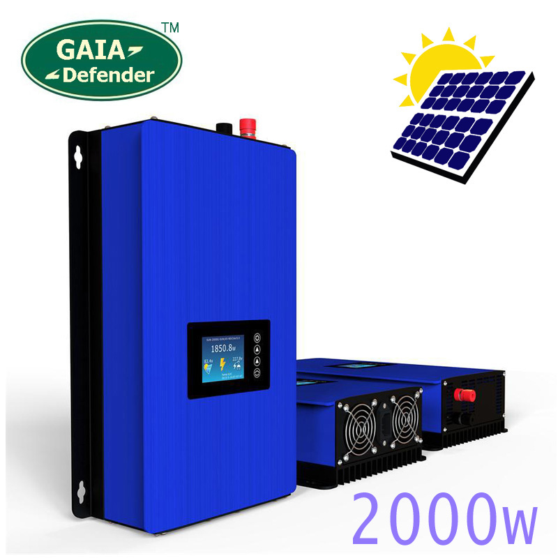 2000 watt auf Grid Tie Inverter Solar Panels Batterie Verbunden Home Power PV-System Sun-2000G2 DC45-90V AC 190 v- 260 v Konverter WI-FI