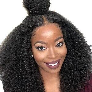 Pelucas de pelo humano de encaje completo Base de seda rizada Afro para mujeres 4B4C mongol Natural negro Remy cabello Venvee