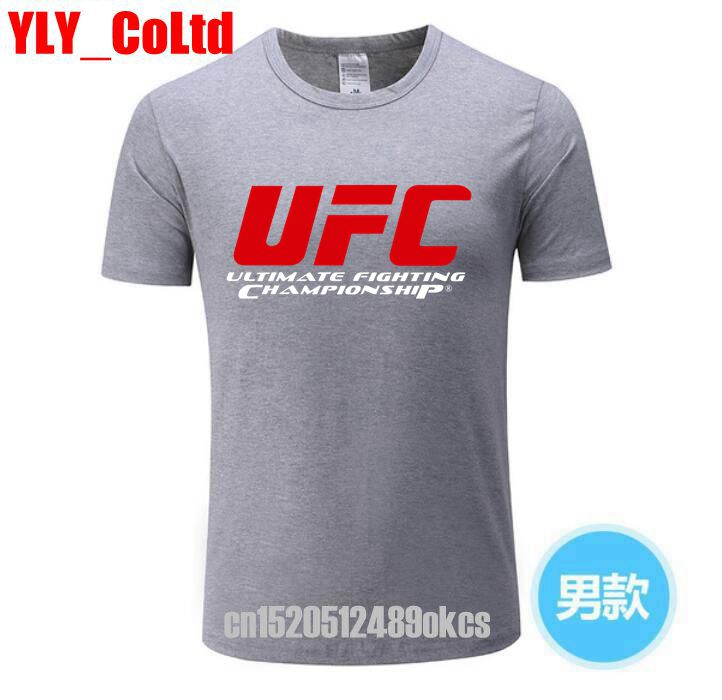 2019 UFC Men's Tshirts Ultimate Fighting Championship Ufc Men   T     Shirt   MMA 100%Cotton TShirt Size XS-XXXL Tops Casuals   t  -  Shirt