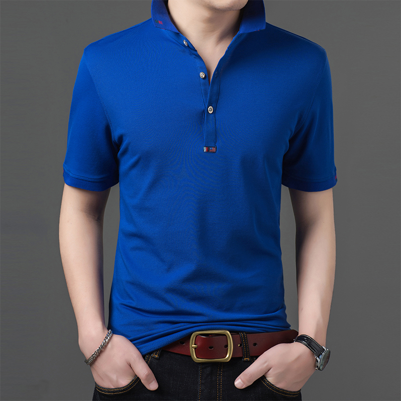 2019 New Fashions Brand Clothing Summer   Polo   Shirt Men's Solid Color Slim Fit Short Sleeve Top Grade   Polos   Casual Mens Clothing