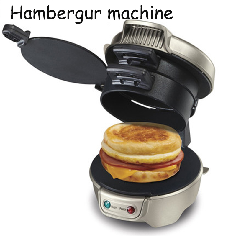Electric Hamburger Machine Non-Stick Hamburger Maker For Breakfast Household Sandwich Maker 600W 220V 25470-CN