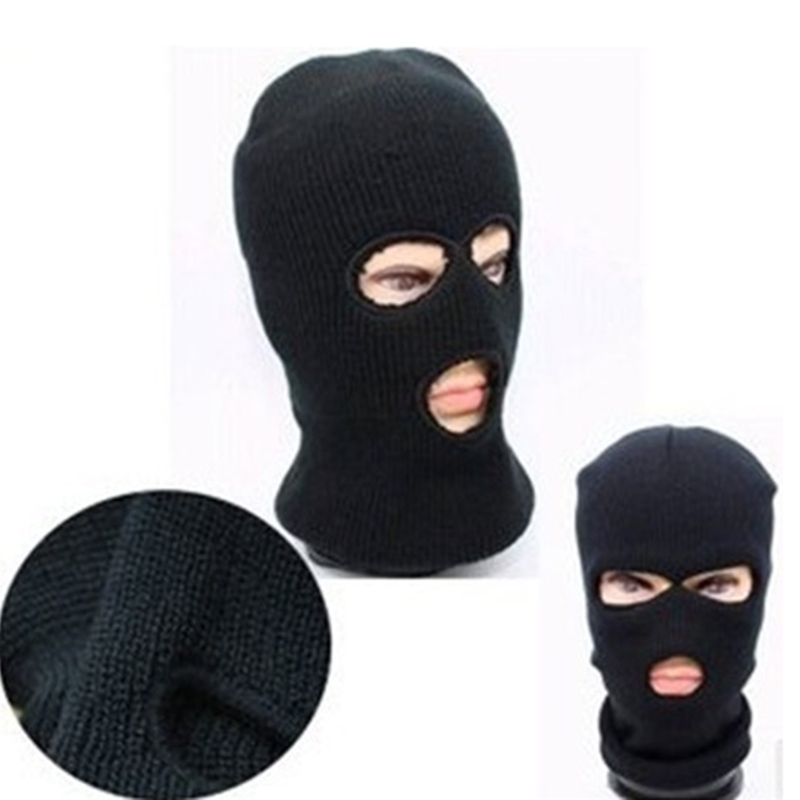 Hot Selling Magic Women's Men's Winter Warm Black Full Face Cover Three Holes Mask Beanie Hat Cap Wholesale Cool Accessory Modern Design