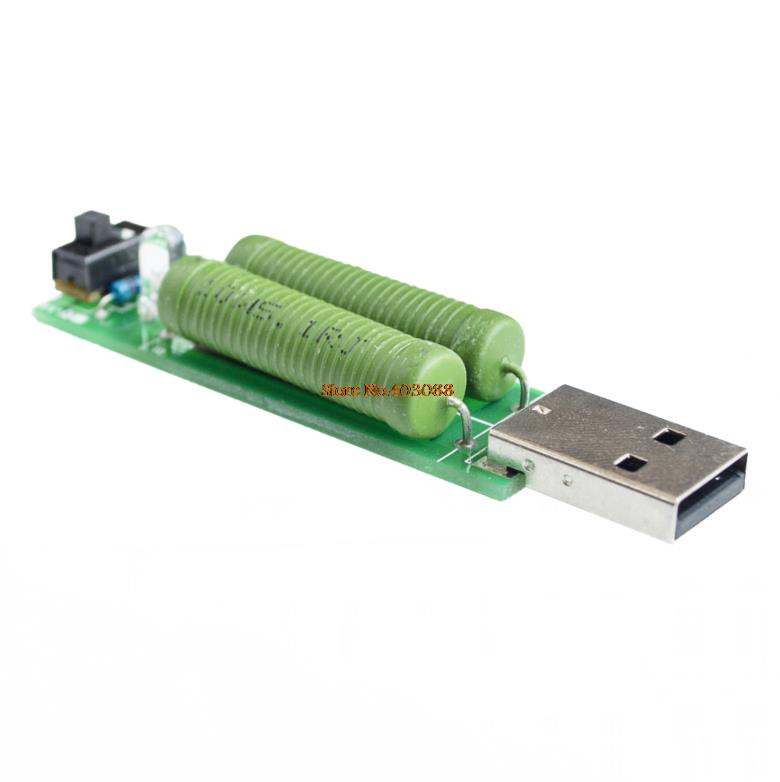 Active Components Dependable 10pcs/lot Usb Mini Discharge Load Resistor 2a/1a With Switch 1a Green Led Electronic Components & Supplies 2a Red Led At All Costs