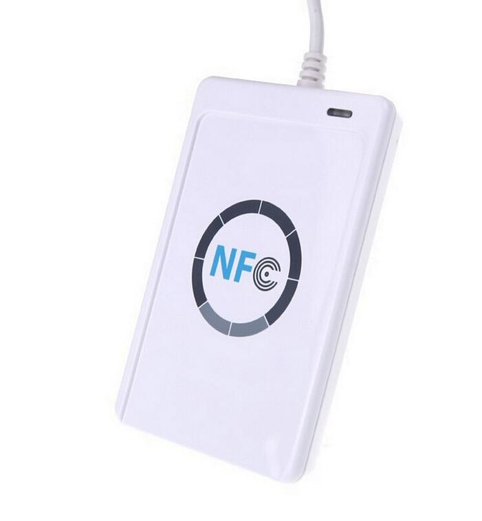 JAKCOM USB ACR122u NFC Contactless Smart IC Card Reader Պատճեն 13.56mhz IC քարտի գրողն աջակցում է բոլոր 4 տիպերին R3 Smart Ring- ի համար