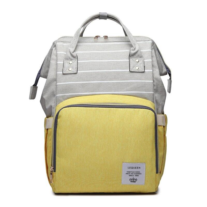 Lequeen Baby Bag Waterproof Mommy Bag Maternity Backpack Bag for Mom Nursing Nappy Bags Large Diaper Bag Bebe Accessories