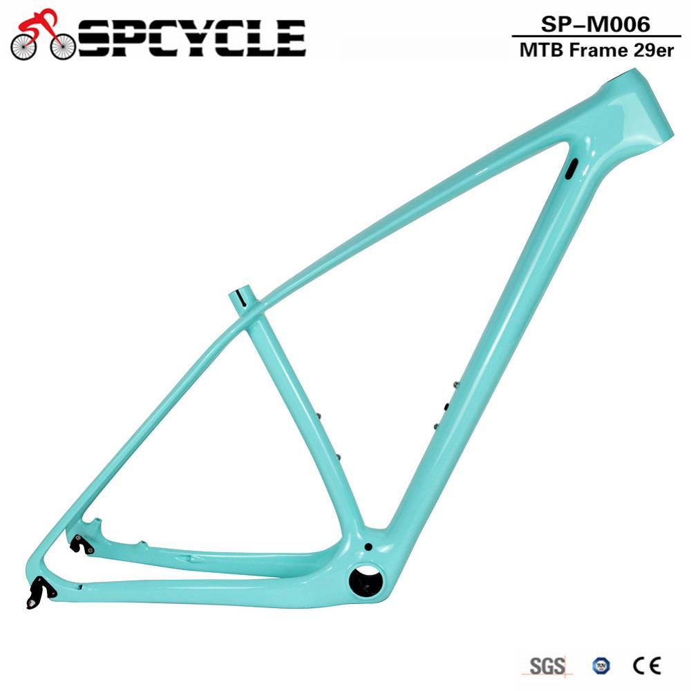 Spcycle Ultralight 29er 27.5er Carbon MTB Bicycle Frame 650B Mountain Bike Carbon Frame Compatible 142*12mm & 135*9mm 11 Colors