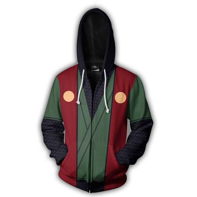 Naruto Hoodie 4th 7th Hokage Uzumaki Naruto Uchiha Sasuke Hatake Kakashi Ootutuki Jiraiya cremallera abrigo Sudadera con capucha