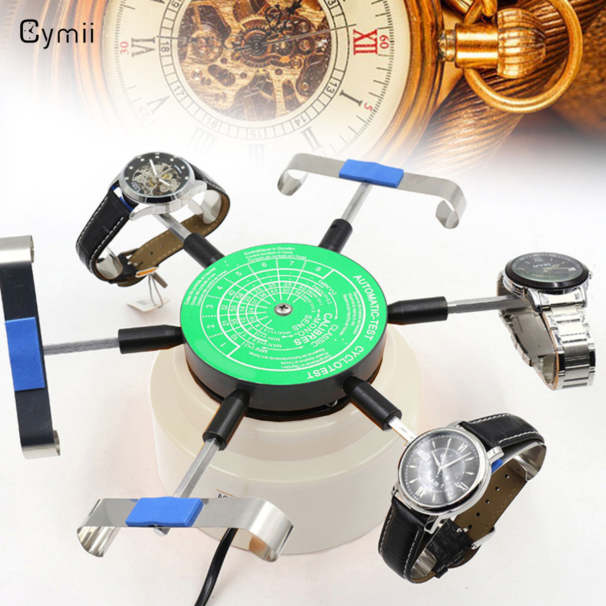 Cymii US Standard 110V-220V Professional Automic-Test Cyclotest Watches Tester Watch Test Machine Six Watches Position цена