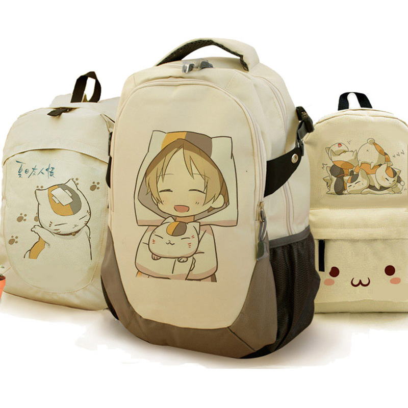 Natsume's Book of Friends Backpack The Cat Teacher Backpack Boys Girls School Bag Laptop Backpack praxis ii middle school mathematics 5169 book online praxis teacher certification test prep