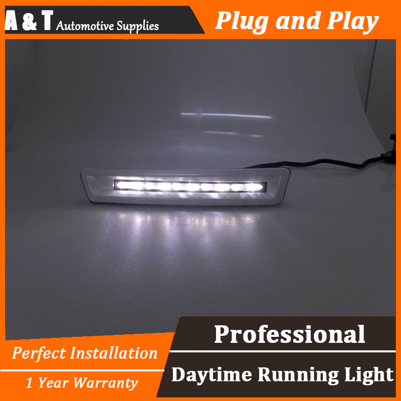 car styling For Land Cruiser FJ200 LED DRL For Land Cruiser FJ200High brightness guide DRL led fog lamps DRL For A style система освещения for all car 2 7w 18 led drl