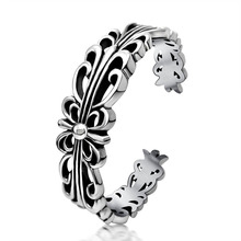 Fashion jewelry titanium steel bracelet,Punk vintage hollowed-out cross bracelet.Titanium steel jewelry bangles