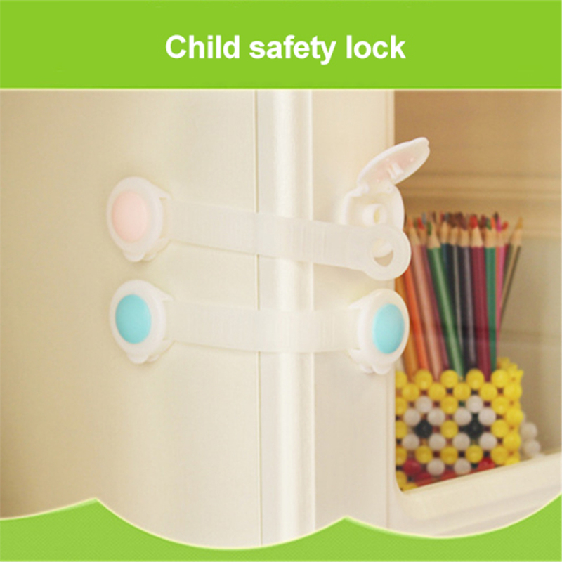 Hot sale Baby Long Multifunctional Safety Buckle Useful Child Lock Protection Of Children Locking Doors Safety Plastic Lock
