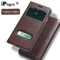 Ipngve Oryginalne Skórzane Etui Z Klapką Pokrywy Skrzynka Dla iPhone 7 Okno widok Telefonu Z Zamka Magnetycznego Coque Fundas Dla iPhone 7 Plus