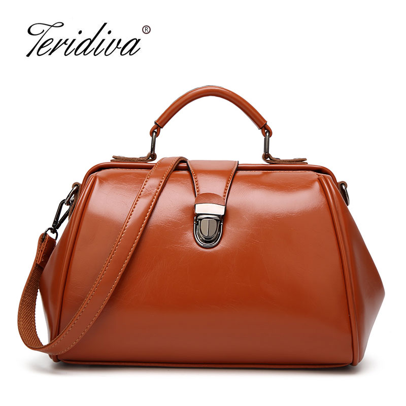 Teridiva 2017 New Fashion High Quality Shoulder Bags Women Messenger Bag Ladies Handbags Vintage Classic Doctor Bag Designer  new fashion vintage high quality women bag women messenger bags handbag shoulder bags dollar price