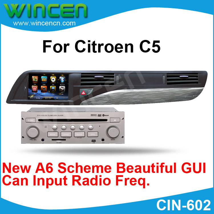 new a6 scheme 7 car dvd gps player for citroen c5 input radio freq gps radio ipod rds bt. Black Bedroom Furniture Sets. Home Design Ideas