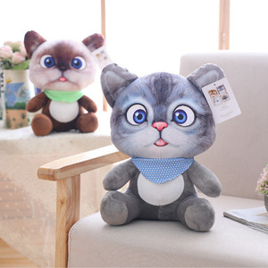 Image 5 - 20cm Cute Soft 3D Simulation Stuffed Cat Toys Double side Seat Sofa Pillow Cushion Kawaii Plush Animal Cat Dolls Toys Gifts