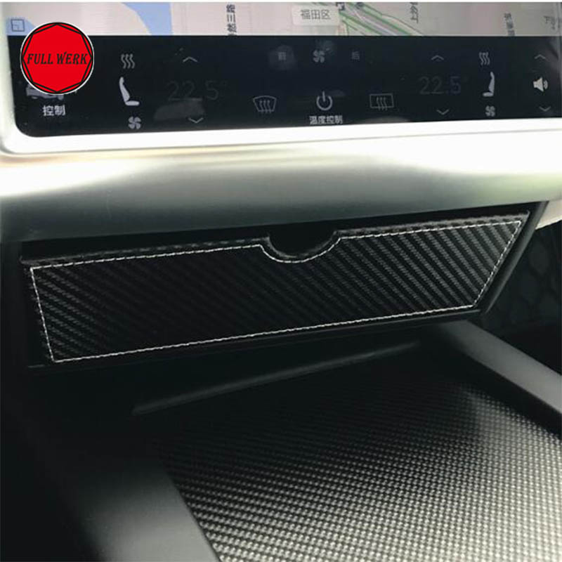 Updated Car Dashboard Console Storage Box Cubby Drawer Container for Tesla Model S Model X Auto