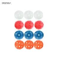 12 stücke X72mm Kunststoff Golf Ball Pickleball Luftstrom Ball Unihockey Hohl Indoor Praxis Ball Spaß-air Scoop Ball Golf zubehör
