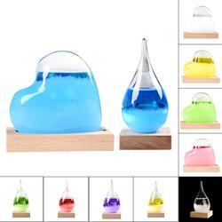 2018 New Fashion Colorful Desktop Transparent Crystal Glass Weather Storm Forecast Bottle Dropship 8.29