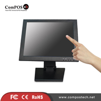 High Quality 15 Inch Touch Screen Montior Metal Monitor Stand For Shopping Mall
