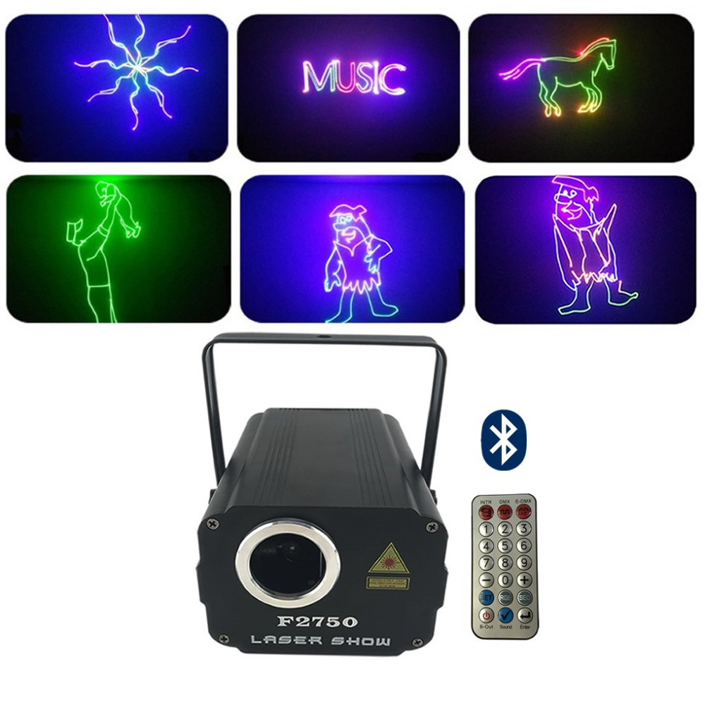 Mini 500wm RGB Animation Laser Phone APP Bluetooth Edit Effect Projector Light DJ Show Wedding Party Home Stage Lighting F2750 ...