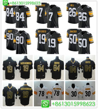 84d86a1de 2018 Men Pittsburgh Ben Roethlisberger Antonio Brown T.J. Watt JuJu Smith-Schuster  Black Alternate Vapor · 19 Colors Available