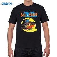 GILDAN 100 Cotton O Neck Customised T Shirt Bat And Robin T Shirt Boy Cotton Short