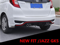 NEW ABS GLOSS REAR TRUNK LIP SPOILER DIFFUSER EXHAUST BUMPER PROTECTOR COVER FOR 18 19 Honda FIT/JAZZ GK5 2018 2019