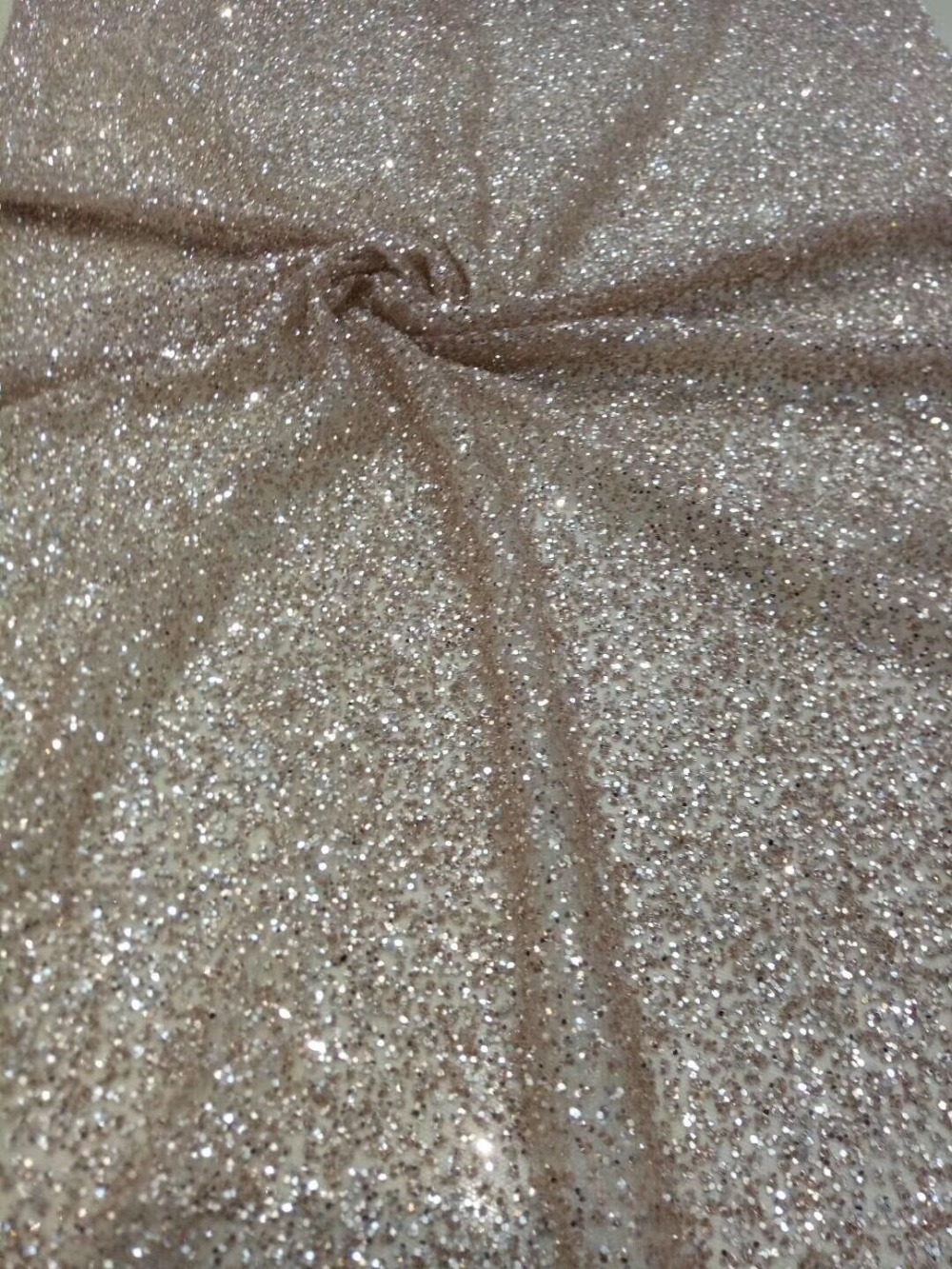 David 10 2419 glued glitter print african mesh tulle lace 5yards for evening dress