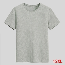 Men's Big T-Shirt Large Size 5XL 6XL 7XL 8XL 9XL 10XL 11XL 12XL Short Sleeve Round Neck Loose Casual Black Gray White чехол клип кейс samsung для samsung galaxy a5 2017 amy classic золотистый gp a520kdcpbaa