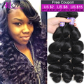 Hot Brazilian Loose Wave Virgin Hair 3 Bundles Lot 8A Grade Virgin Unprocessed Human Hair Loose Wave Brazilian Hair Weave Bundle