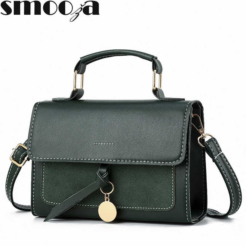 Женская кожаная сумка SMOOZA, маленькая сумка через плечо из искусственной кожи высокого качества