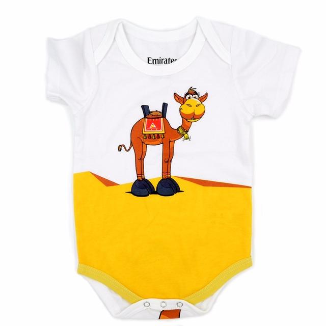 Emirates camelo carters roupa do bebê recém-nascido da menina do menino romper tutu roupas para bebês crianças roupas pijamas crianças trolls bosudhsou