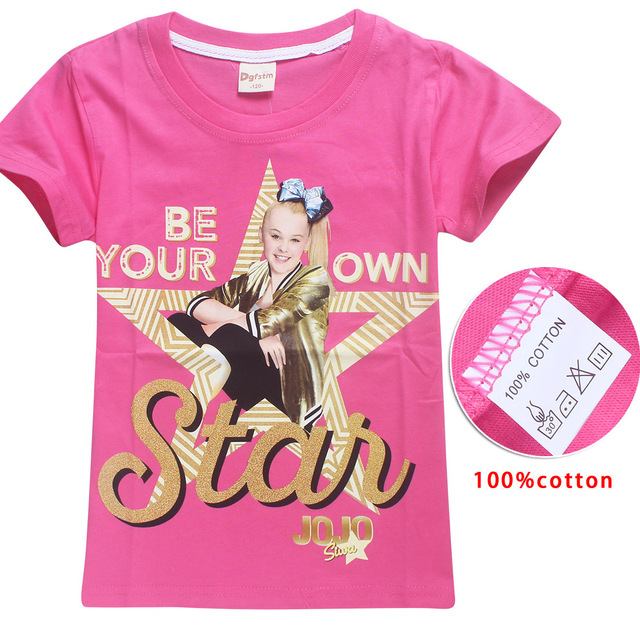 8e9a5be334e8f US $6.99 30% OFF|2018 New Summer Jojo Siwa Shirts Baby Girls Tshirts Short  Sleeve T Shirts for Kids Bobo Choses T shirt Child Sport Clothes 4 12Y-in  ...