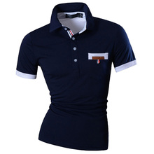 New 2017 Mens Summer Fashion Casual Polo Shirt Designed Short  Sleeves Slim Fit Trend Solid color 4 Colors S M L XL U012