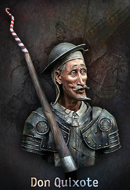 Resin Kits 1/ 10 Don Quijote de la Mancha bust figure Resin Not color Model figure DIY TOYS new image