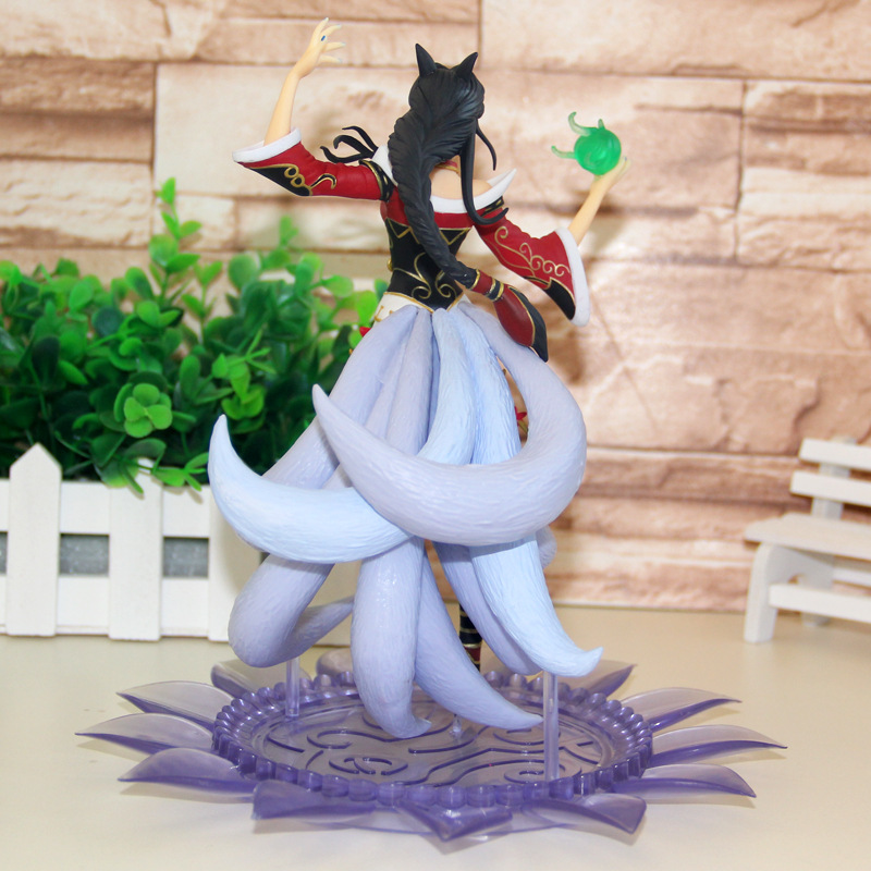 lol New Arrival 22cm Ahri the Nine Tailed Fox PVC Action Figure Model Toys Christmas Birthday Gift in Action Toy Figures from Toys Hobbies