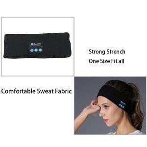 Image 5 - Aimitek Bluetooth casque sans fil bandeau sport casques Yoga mains libres écouteur doux chaud chapeau casquette intelligente avec Microphone