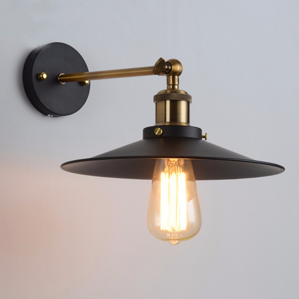 Modern Vintage Loft Adjustable Industrial Metal Wall Light retro brass wall lamp country style Sconce Lamp Fixtures AC110V 220V