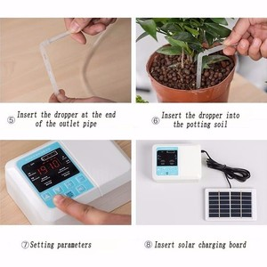 Image 5 - 1/2 Water Pump Timer Intelligent Garden Automatic Irrigation System Watering Device Solar Energy Charging Potted Plant Drip