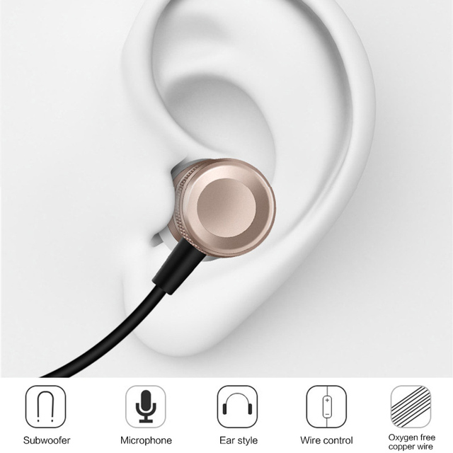 Super Bass Stereo Earphone 3.5mm Jack Headset Hands Free Headphone with Mic Music Earphone for Samsung iPhone PC