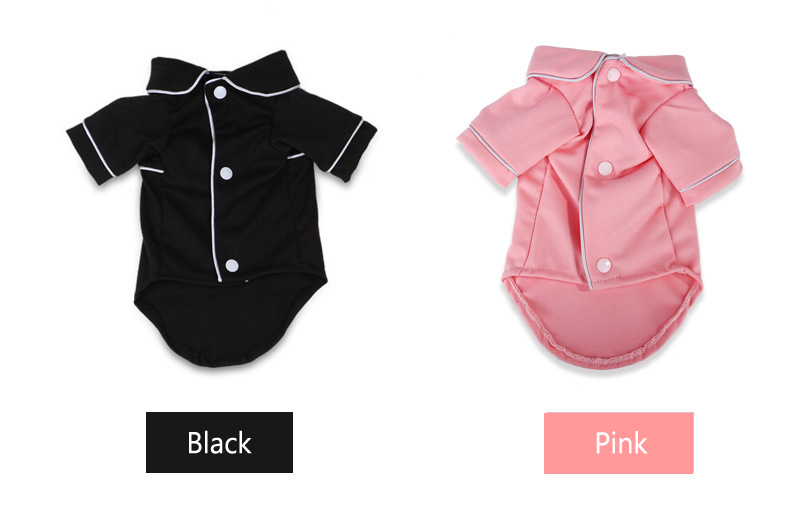 Dog Shirts Spring Summer Pet Pajama Breathable Soft Home T Shirt For Small Dogs Cats Chihuahua Poodle Vests With Snap Fastener (4)