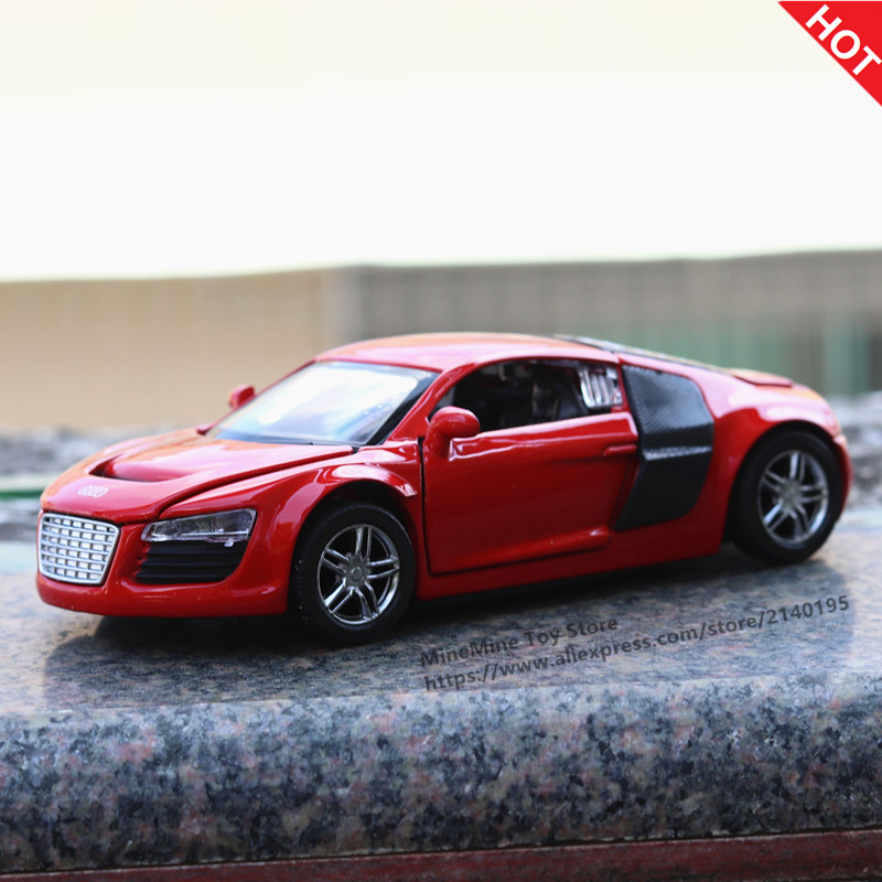 MINI AUTO 1:32 AUDI R8 metal model Alloy pull back miniatures kids toys for children Classic Diecast Metal Cars gifts toy car