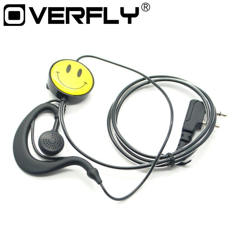 imágenes para K Sonriente walkie talkie auriculares para radio de dos vías walkie talkie auricular para kenwood baofeng BF-UV5R BF888S, TYT KEWOOD